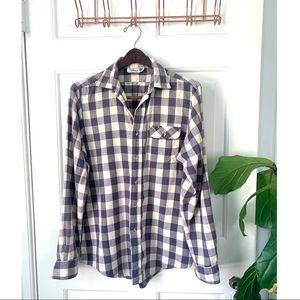 Vintage Filene's Men's Plaid Button Down Shirt